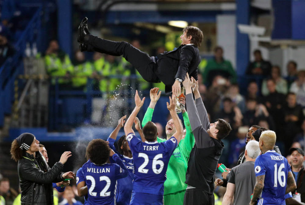 chelsea celebrates win over watford